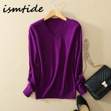 Women Sweatshirts Fashion Autumn 100% Cashmere Sweater V Neck Solid Elastic Slim Sexy Pullovers Coat Female Blouse Knit