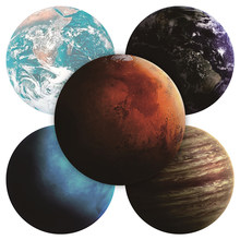 NEW Exquisite Planets Star Pattern Round Mousepad 200x200MM 7 Kinds of Star Mouse Pad Choose for Gift/Game/Office Tablet Mats(China)