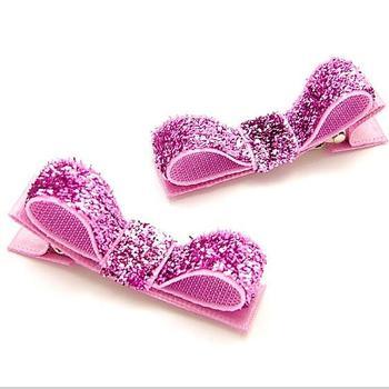 200pcs Free Shipping  Girls Glam glitter tuxedo hair bow clips