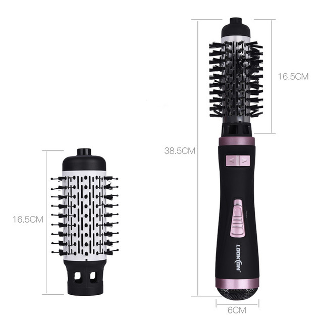 Professional Hair Dryer Curler Comb 2 In1 Multifunction Hair Styling Tools Hairdryer Automatic Rotating Hair Brush Roller Styler 4