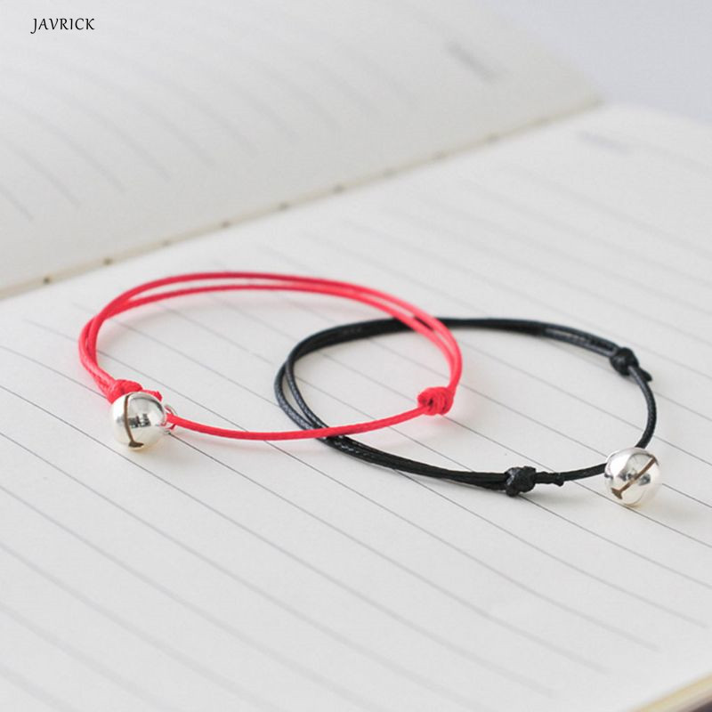 Braided Bracelet Thin Simple Bell Bangle Couple Jewelry Charm Handmade Rope Fashion Decoration Ornament Gifts