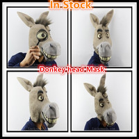 Free shipping Cosplay donkey head Mask Halloween Costume props dance animal Horse mask hedging performances played out supplies