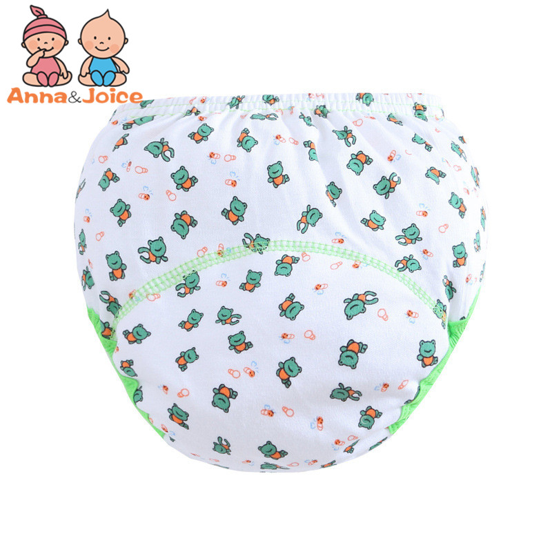 30 Pcs/lot 3 Layers Baby Training Pants/ Learning Panties/ Infant Shorts Boy Girl Diapers Cotton Nappies Underwear