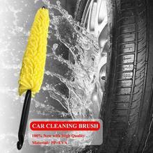 Escova de plástico para lavagem de pneu, roda automotiva, alça de limpeza, ferramenta esponja de limpeza