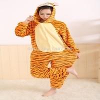Kigurums New Winter Anime Pajamas Adult Flannel Lovely Tiger Pyjamas Pajamas Sleepsuit Sleepwear Onesie
