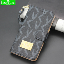 LOVECASE For Galaxy S7 luxury flip phone wallet for iPhone 6 6s Galaxy S6 S7 Edge S8 Plus plus 7plus card style phone cases bags