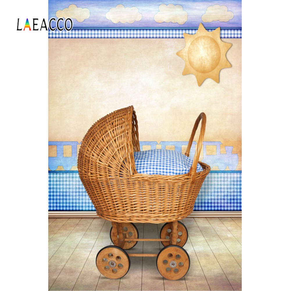 Baby Trolley Pregnant Mother Painting Pattern Baby Newborn Portrait Photographic Backgrounds Photography Backdrops Photo Studio