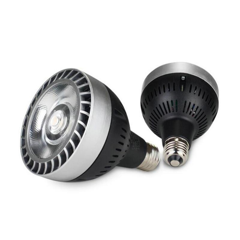 Livraison Gratuite 35W 40W COB LED PAR30 E27 Projecteur 1LED AC85 265V Ampoule Lampe 3 Ans De Garantie|e27 dimmable led bulb|e27 led spot light|e27 110v - title=