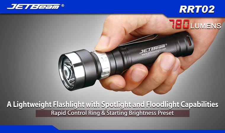 Free Shipping 2014 Original JETBEAM RRT02 Cree XM-L2 LED 780 lumens flashlight daily torch Compatible with 18650 16340 battery 3800 lumens cree xm l t6 5 modes led tactical flashlight torch waterproof lamp torch hunting flash light lantern for camping z93