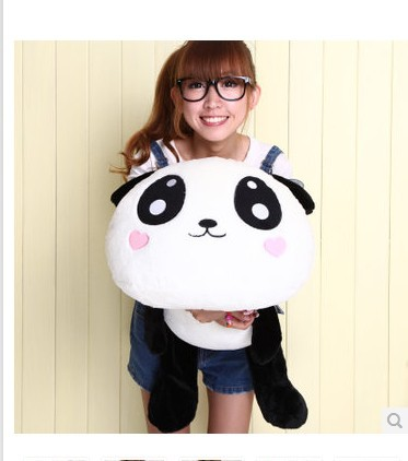 Stuffed animal love heart panda toy Lying Panda cushion about 31 inch plush toy 80cm doll throw pillow wp2601