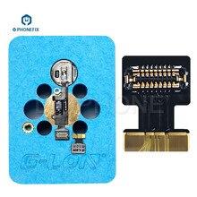 G ion imesa plataforma de reparo, touch id, impressão digital, cabo flexível para fixação, iphone 7 7plus 8, 8 falha de botão de retorno de casa