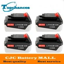 4PCS High Quality 20V 4000mAh Li ion Power Tool Replacement Battery for BLACK DECKER LB20 LBX20