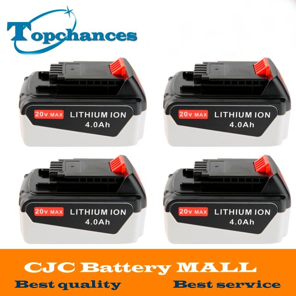 4PCS High Quality 20V 4000mAh Li ion font b Power b font font b Tool b