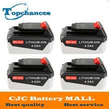 4PCS High Quality 20V 4000mAh Li-ion Power Tool Replacement Battery for BLACK & DECKER LB20 LBX20 LBXR20 LB2X4020-OPE