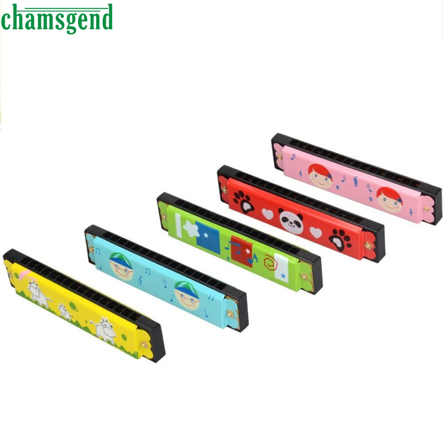 New EducationaSwan Harmonica 16 Holes Hooter Bugle Educational font b Toy b font Gift For Kids