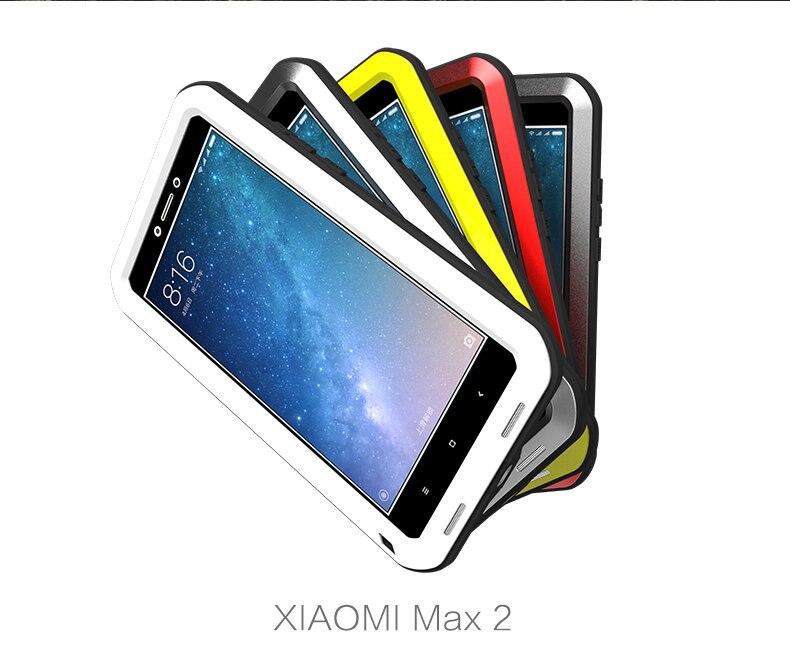 Liebe Mei Leistungsstarke Fall Für Xiaomi Mi Max 2 Premium wasserdicht Stoßfest Aluminiumgehäuse Abdeckung für xiaomi max2 kostenlose Gehärtetes glas