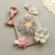 Pet Dog Hair Clips Hairpins 5pcs Bow Flower Kitten Puppy Grooming Supplies For Small Teddy Chihuahua