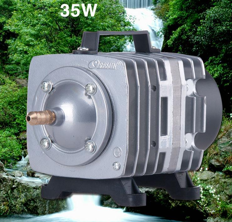 NEW Resun ACO-003 High Quality 35W 220V 0.065m3\min Aquarium Fish Tank Pond Electromagnetic Air Compressor Pump  Free Shipping автокормушка для рыб resun af 2009d