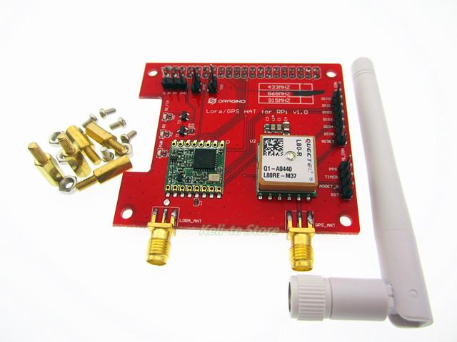 De longa distância sem fio 433/868/915 Mhz Lora e GPS Placa de Expansão para Raspberry Pi
