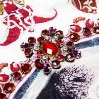 Vestido mini corte recto suelto estampado vintage verano apliques 5