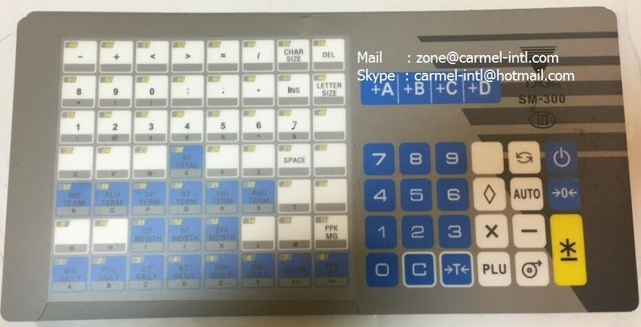 Ca Free Shipping 1pcs English Version Dig i SM300 Keyboard Film and 1pcsDigi SM-300 printhead seebz 5pcs lot scale supplies english version keyboard film for digi sm300 sm 300 retail electronic scale