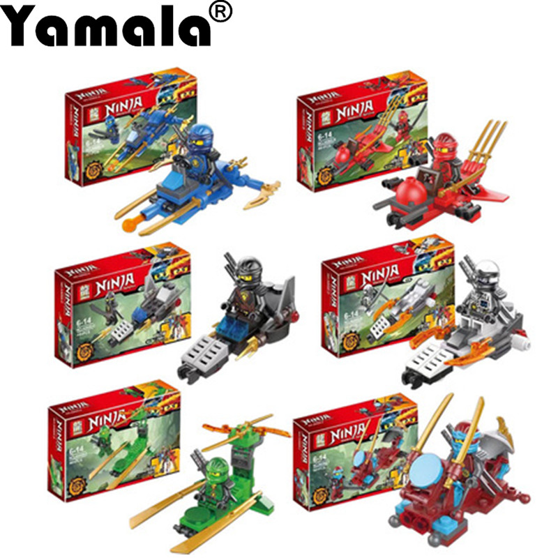 [Yamala]Ninjagoes Dragon Building Block KAI JAY COLE ZANE Lloyd WU NYA GARMADON NinjaoeToys Compatible with Legoingly Motorcycle [yamala] 15pcs lot compatible legoinglys ninjagoingly cole kai jay lloyd nya skylor zane pythor chen building blocks ninja toys