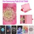 Мода Окрашенные Флип PU Кожаный спс Samsung Galaxy Tab E 9.6 чехол Для Samsung Galaxy Tab E T560 SM-T560 T561 Смарт Обложка случаях