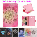 Fashion Painted Flip PU Leather sFor Samsung Galaxy Tab E 9.6 Case For Samsung Galaxy Tab E T560 SM-T560 T561 Smart Cover Cases