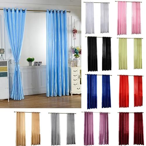 Solid Window Door Room Panel Shade Curtain Drape Blind Valance Home Decor