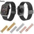 HOCO Milanese Schleife Edelstahl Strap für Apple Uhr Serie 1 2 3 4 5 Band Ersetzen Armband für iWatch 44/42mm 40/38mm Bands