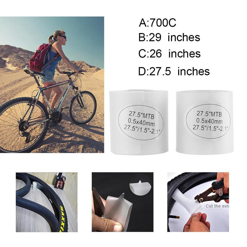 Bicycle Tire Liner Puncture Proof Belt Protection Pad For 700C Road Bike