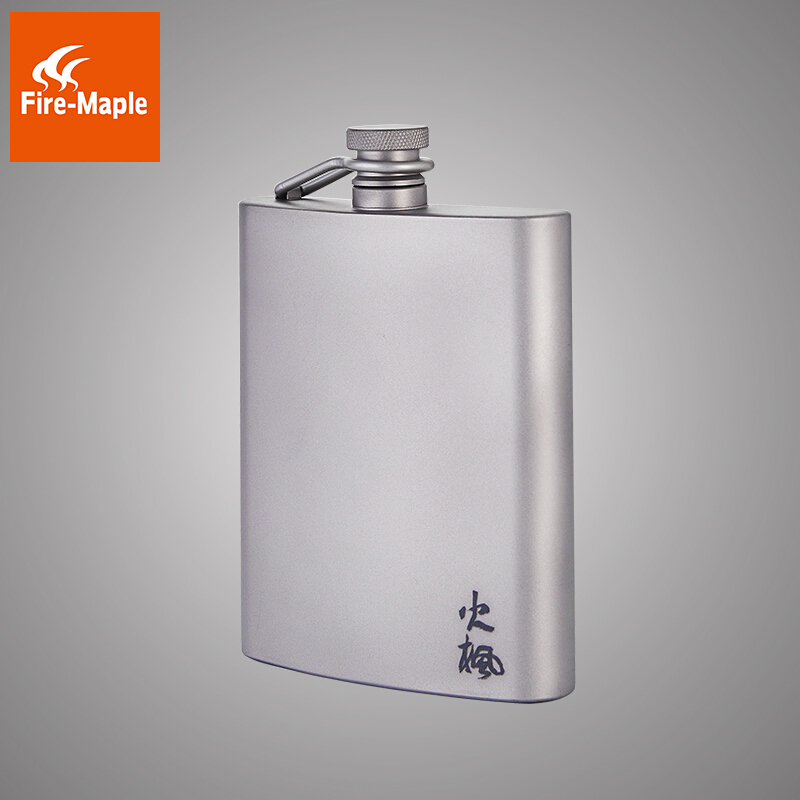 Fire maple 200ml Titanium Hip Flask Mens Christmas Gift