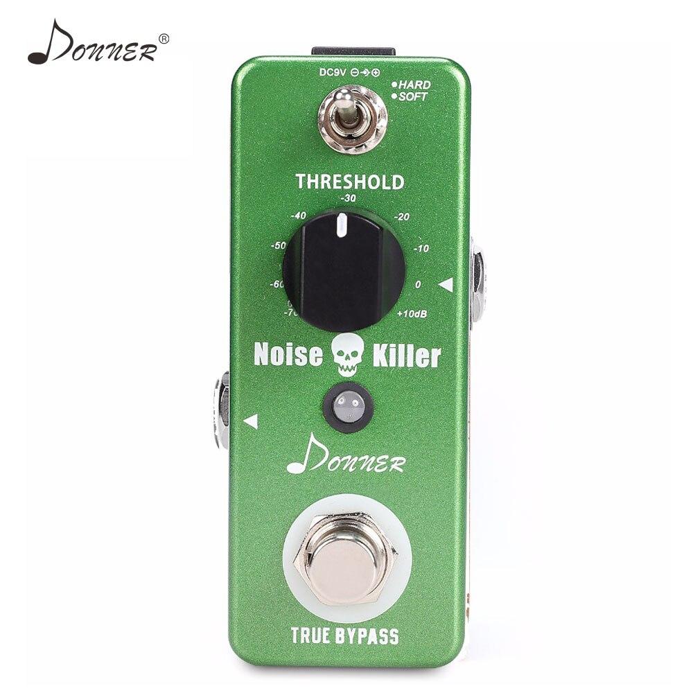 Donner Effect Pedal Noise Gate Noise Killer Guitar Suppressor Noise Reduction True Bypass Musical Part Accessories