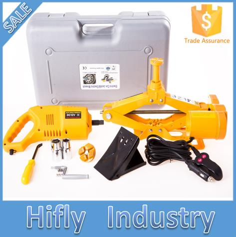 Strong Packing New Arrival Electric Jack And Impact Wrench 5000KG Sedan SUV MPV Auto Electric Jack And Car Electric Wrench