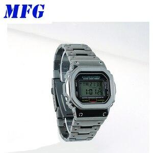 Image 5 - Kordonlu saat GWM5610 DW5600 saat kayışı kayışı durumda Metal paslanmaz çelik bilezik çelik kemer aksesuarları