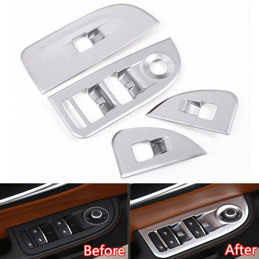 YAQUICKA 4Pcs Car Armrest Window Lift Button Switch Frame
