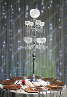 2pcs/lot Free shipment Candelabra centerpiece crystal candle holder 60 tall