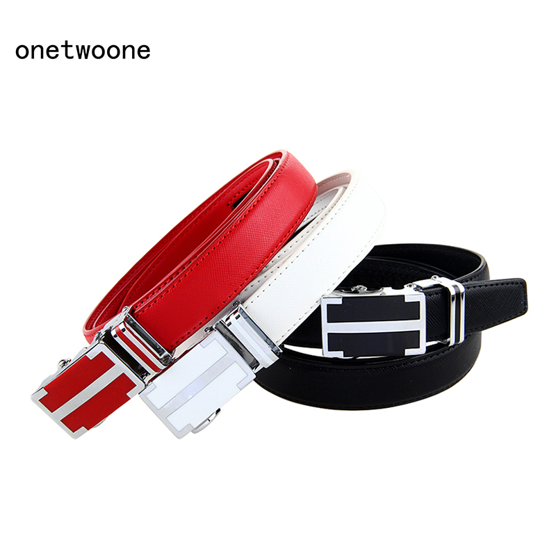 3 colors active style women's casual cowhide belt ladies jeans belt leather belt with automatic buckle 2015 newest fashion