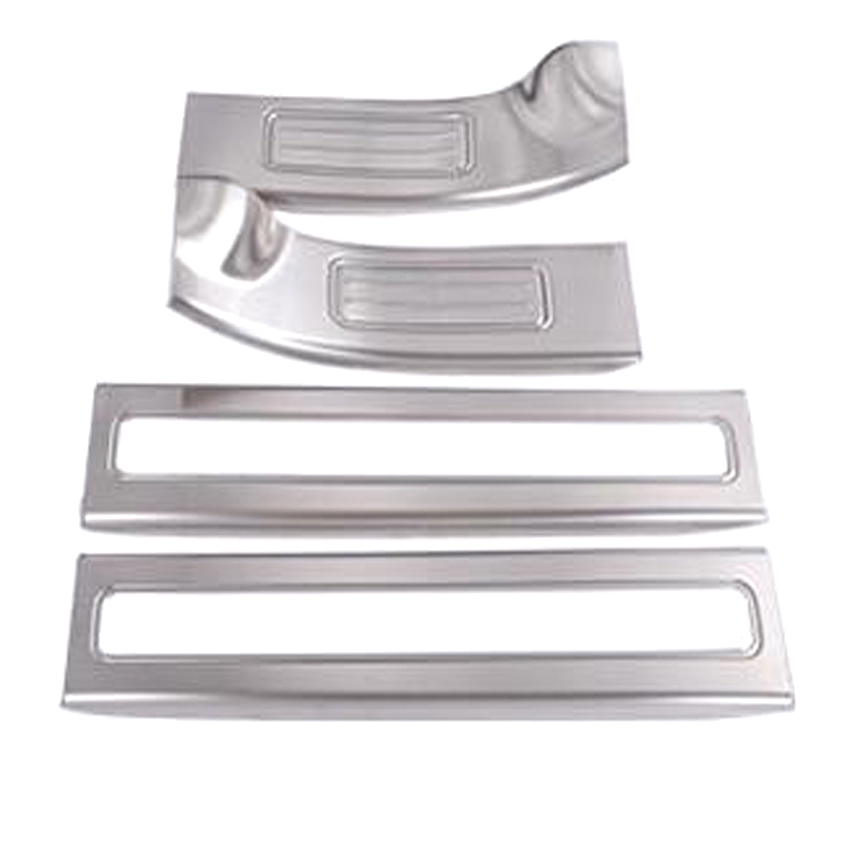 YAQUICKA 4Pcs/set Stainless Steel Car Inside Door Sill Scuff Plate Cover Trim Styling For Land Rover Discovery 5 2017 Accessory