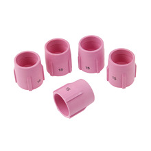 DRELD 5PCS TIG Alumina Nozzle Gas Lens Ceramic Cup 53N89 15# FOR TIG Welding Torch Consumables PTA DB SR WP9/17/18/20/26 5PK 46pcs tig gas lens collet body assorted size kit for tig welding torch sr wp9 20 25 tig welding torches tools set