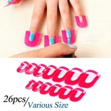 26pcs pack Nail Gel Polish Protector Art Tools Creative Spill Resistant Manicure Finger Cover Nail Polish