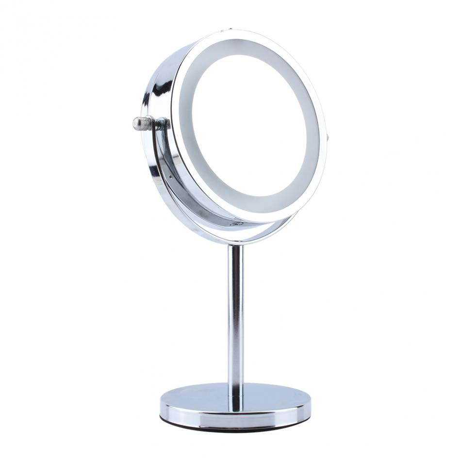 6 inch Round LED Makeup Mirror Vanity Desktop Light MIrror for Make up LED Light Magnifying Cosmetic Mirror jl lithe fold make up cosmetic mirror w 8 led light black