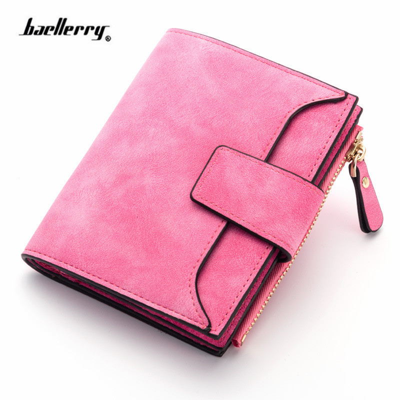 Pu Leather Wallet Ladies Zipper Card Wallet Fashion Women Hasp Purse Luxury Brand Short Wallets Female Color Small Zip Pocket