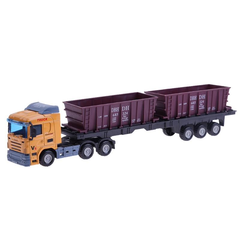 Kids Truck Toys 1:48 Europ Transport Container Carriage Alloy Vehicle Model Car Toy Truck Toys Vehicle Simulation Kids Gifts