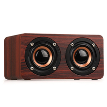 W5 Wooden Wireless Bluetooth Speaker 10W Portable HiFi Shock Bass TF