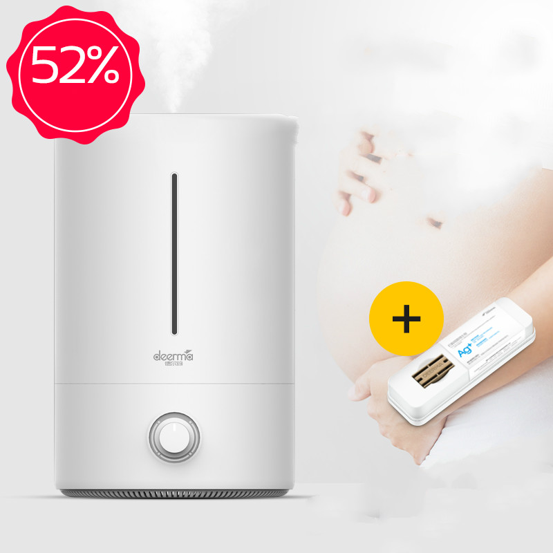 DEERMA 5L Large Capacity Radiation-free Antibacterial Air Humidifier For Home Office 350ml/h Large Fog Diffuser Mist Maker