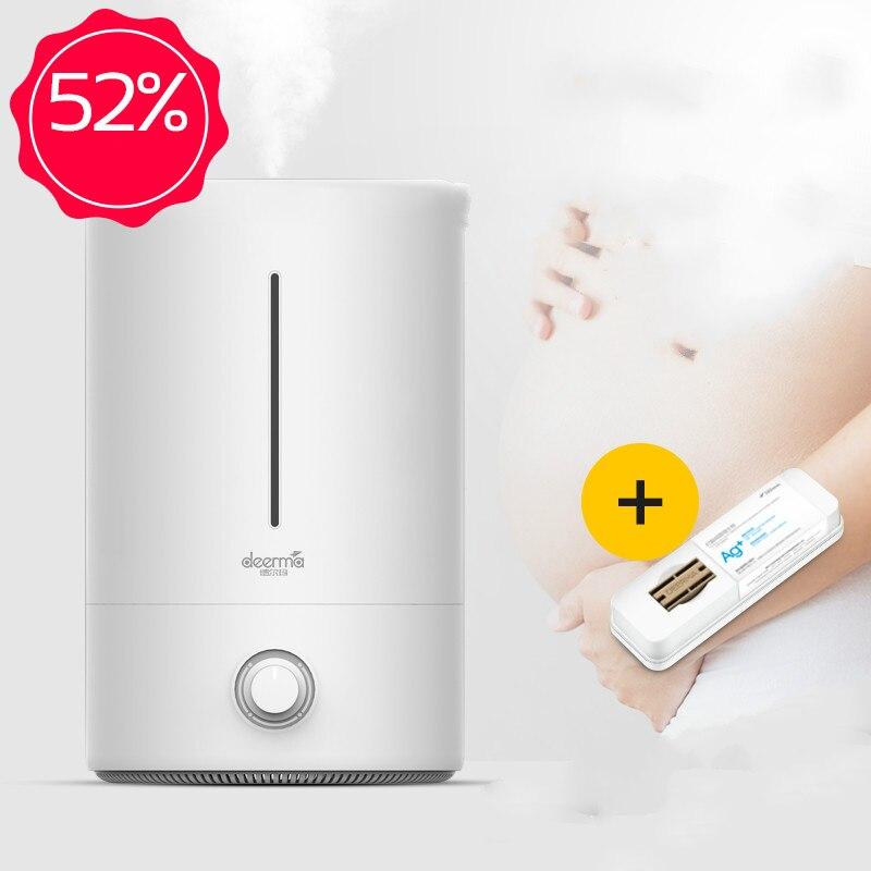 Xiaomi экосистемы deerma 5L увлажнитель воздуха для маленьких Семья беременных в Спальня офисные AC на фильтрация воздуха увлажняющий F628 350 мл/ч