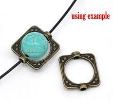 DoreenBeads vendita al dettaglio di cornici quadrate in bronzo antico per gioielli che fanno strumenti fai-da-te (misura 10mm tallone) 15x14mm, venduto per confezione da 100