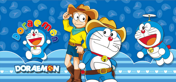 Japanese Anime Wallpaper Doraemon Wall Mural Cartoon Photo