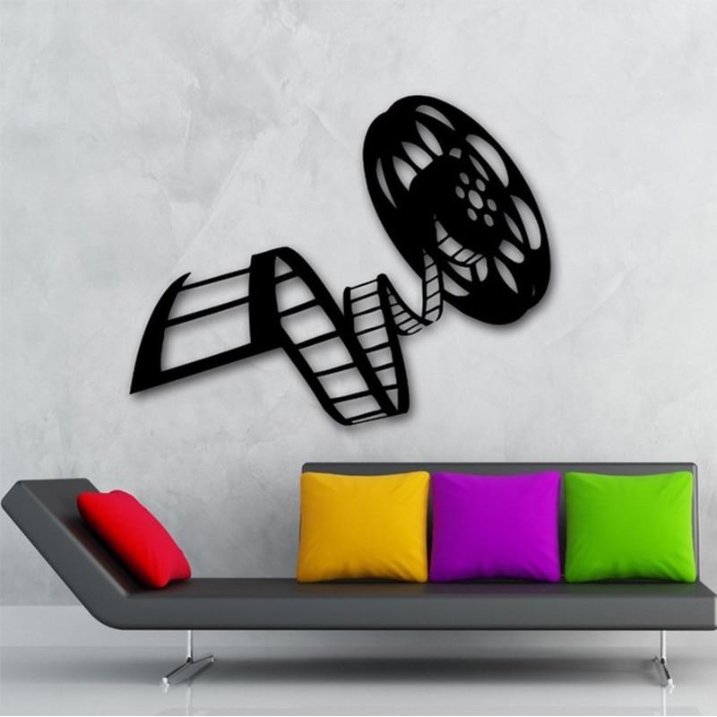 Movie film vinyl wall decal reel of film cinema film decor - Stickers cinema mural ...